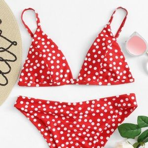 Other - Red Polka Dot Bikini
